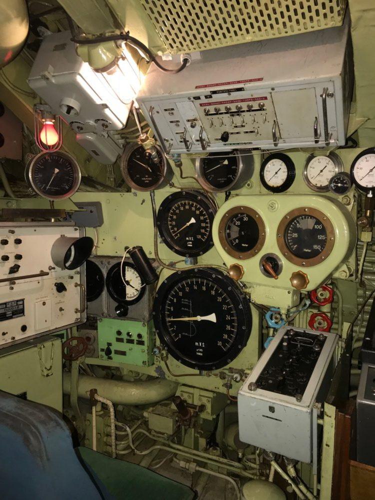 Ubåden Springeren set indefra